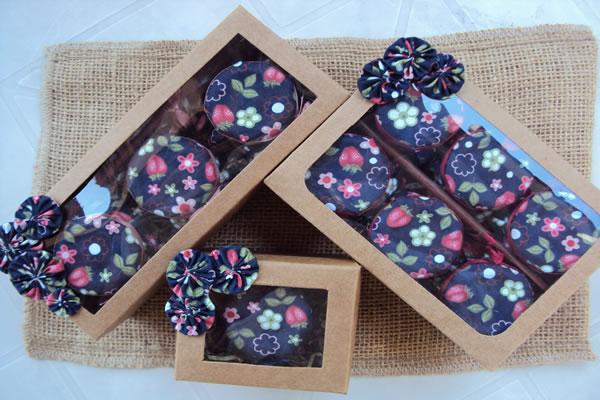 Embalagens criativas para doces Gourmet