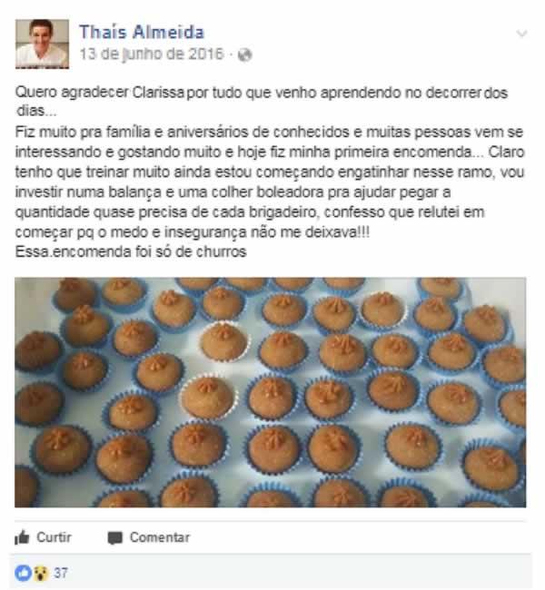 Curso Doces Gourmet - Clarissa Costa
