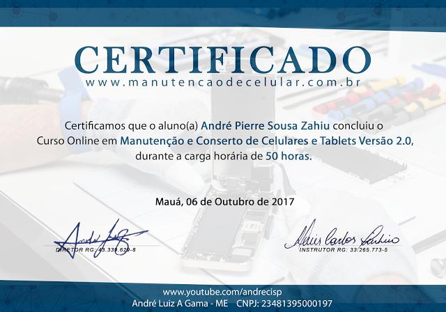Curso Conserto de celular Andrecisp com Certificado