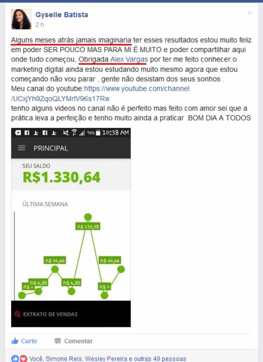 Fórmula Negócio Online Alex Vargas Depoimento